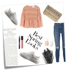 """Untitled #10"" by mmww-331 ❤ liked on Polyvore featuring Post-It, Puma, H&M, Frame Denim, Bare Escentuals, Trish McEvoy, Essie, See by Chloé and Skemo"