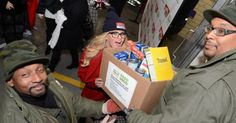 Television personality Jenny McCarthy got into the holiday spirit and helped donate goods for a special food drive Thursday. 'The View' host's act of kindness was part of the Daily News' Readers Care to Feed the Hungry Canned Food Drive, co-sponsored by the City Harvest food bank, ProPhase Labs Inc.'s Cold-EEZE health products brand and the Fire Department of New York.