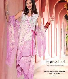 Gul Ahmed Chantilly de Chiffon festive collection CT-135