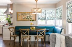 Traditional Kitchen by Catherine Nguyen Photography Comfortable looking banquets. Enough of lean back to be comfortable.
