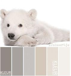 IJSBEERTJE - Kleurenpalet: zachte natuurlijke tinten gebroken wit beige en grijs