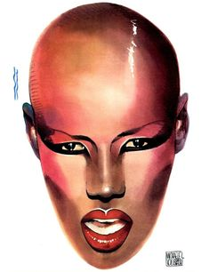 Grace Jones, Model One, Female Singers, Amazing Grace, Timeless Classic, Portrait Art, African Art, Sculpture Art, Instagram