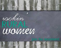 There's a few rockin' rural women having a convo on Facebook. facebook.com/rockinruralwomen