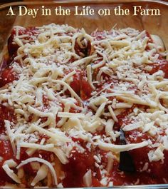A Day in the Life on the Farm: Eggplant Rollatini for #SundaySupper