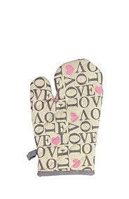 LOVE SCRIPT 100% COTTON OVEN GLOVE