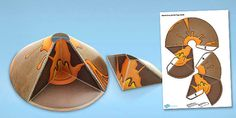 Volcano Cross Section Paper Model - volcano, paper, model, cross Geography Lessons, Teaching Geography, Teaching Science, Teaching Resources, Primary Resources, Gcse Geography, Volcano Model, Volcano Projects, Colegio Ideas