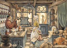 Anton Franciscus Pieck – was a Dutch painter, artist and graphic… Jig Saw, Anton Pieck, Edmund Dulac, Dutch Painters, Dutch Artists, 3d Prints, Vintage Art, Illustrators, Cross Stitch Patterns