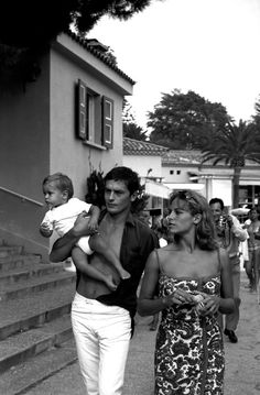 Alain Delon with Nathalie and Anthony.