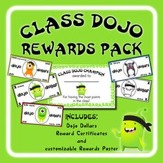 Class Dojo Rewards - with Dojo Dollars in $1, $5, $10, and $20