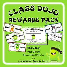 Class Dojo Rewards - with Dojo Dollars in $1, $5, $10, and $20