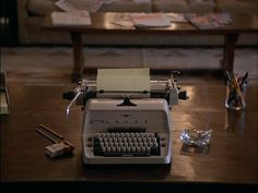 """Jack  Nicholson's typewriter and desk from Stanley Kubrick's """"The Shining """"."""