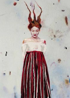"""""""The act of painting in my case is a tremendous impulse of violence yet it is an act filled with beauty and poetry,"""" said Lita Cabellut, one of Spain'. Spanish Painters, Political Art, Thing 1, Painting Lessons, Art Challenge, Mixed Media Canvas, Picture Design, Art Sketchbook, Contemporary Paintings"""