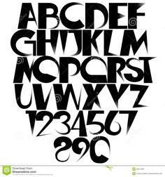 Creative Lettering Styles Alphabet \x3cb\x3ecreative font\x3c/b\x3e stock vector - image: 53511967