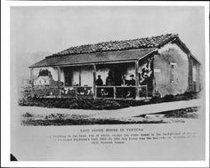 Last remaining adobe house in Ventura, California in 1894