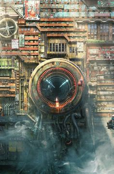 Great Cyberpunk - Anime City concepts for Lego! Cyberpunk City, Ville Cyberpunk, Arte Cyberpunk, Futuristic City, Cyberpunk Anime, Environment Concept Art, Environment Design, Sci Fi Fantasy, Fantasy World