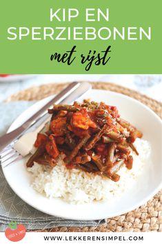 Kipschotel met sperziebonen. Op zoek naar een lekker, makkelijk recept dat vrij snel klaar is? Serveer deze kipschotel met rijst, pasta of couscous. Klik op de foto voor het recept.