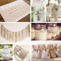 Southern Blue Celebrations: Burlap and Lace Wedding Decor Ideas