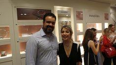 Com a talentosa e bela Luiza Possi na inauguração da joalheria Pandora no JundiaíShopping