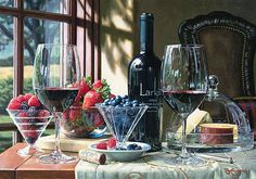 Eric Christensen:  has enjoyed amazing success and a growing reputation as a celebrated Wine Country Artist. Self-taught, his watercolor technique allows him to create images of vibrant color beyond depth of a high quality photograph.  Unique in his field, he achieves extraordinary hyper-realism with his watercolor technique.