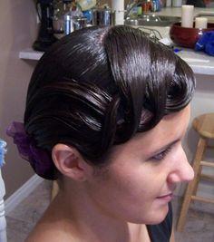 ballroom or even latin hair look?