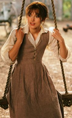 Keira Knightley as Elizabeth Bennet, Pride & Prejudice (2005) Costume Designer Jacqueline Durran - is it weird that I wouldn't mind wearing this now?
