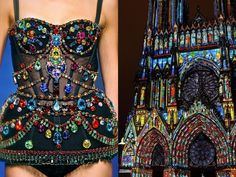 • D&G S/S 2012 • & • Cathedrale Notre-Dame de Reims, France • _______________ #LiliyaHudyakova #fashion #art #DolceGabbana #hautecouture #colors #art #jewelry #architecture #fashionshow #style #moda #France #cathedral #amazing #instafashion #style #lightshow #beautiful #inspiration #stainedglass #pastes