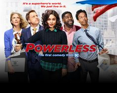 Powerless is a fresh take on the superhero world (pilot review)   With so many action-packed shows focused on both DC and Marvel SuperheroesPowerlessis a breath of fresh air to the comic-book-turned-TV genre. Starting with the credits they not only allude to the big guys and gals of the DC universe they show them and have you focus on the bystanders from famous comic book covers opening your eyes to a world of characters you never knew of or cared about. This gives a strong presentation of…