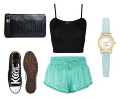 """Bez naslova #355"" by fashionstyle-881 ❤ liked on Polyvore featuring Paloma Blue, WearAll, Converse, Moschino and Kate Spade"