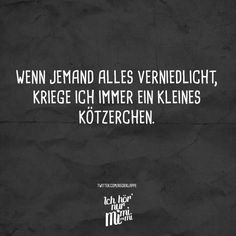 Wenn jemand alles verniedlicht, kriege ich immer ein kleines Kötzerchen. Funny As Hell, Funny Cute, Funny Pins, Funny Memes, Memes Humor, Daily Quotes, Best Quotes, Funny Lyrics, Visual Statements