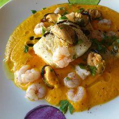 Receta Lomos de bacalao al vapor con crema de zanahoria por Peter´s cooker…