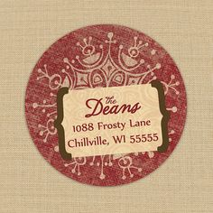 Shabby Red Snowflake  Custom Address Labels or by PoshGirlBoutique, $5.50- Ordered these for this year!!