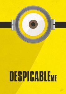 Despicable Me minimalistic poster