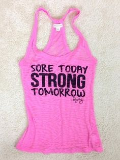 sore today strong tomorrow guys stay strong no matter what happens, someone still luvs u Workout Tanks, Workout Wear, Workout Style, Workout Attire, Workout Outfits, Fitness Motivation, Fitness Gear, Daily Motivation, Fitness Style