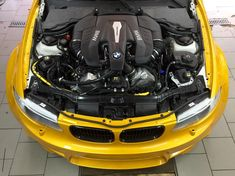 BimmerBoost - Russian swaps an S63 4.4 twin turbo V8 into a BMW E82 1M and adds all wheel drive making for one of the baddest BMW swaps ever done - 150i xDrive 1m Coupe, Bmw Engines, 135i, Bmw 1 Series, Engine Swap, Twin Turbo, Car Manufacturers, Bmw M3, Twins