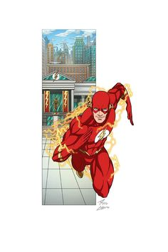 """""""Flash"""" commissioned by Kenn Hensley. Character belongs to DC Comics. Character Drawing, Comic Character, Giant Monster Movies, Flash Comics, Ride The Lightning, Wally West, Hawkgirl, Cartoon Tv, Dc Heroes"""
