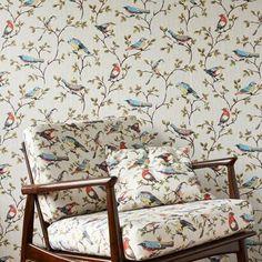 Le papier peint et tissu Cath Kidston - une jolie chambre