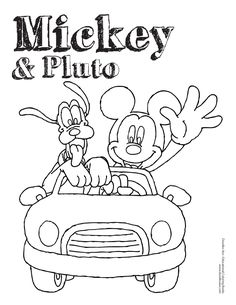 Mickey Mouse and Pluto coloring sheet! #friends #classic #friendshipday
