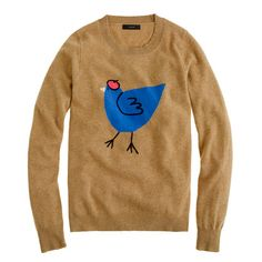 Such an endearing french hen sweater - makes me want to tuck it into a schoolgirl tartan mini and pair it with killer brown suede booties.