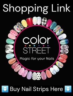 Buy Color Street Color street graphics and buy color street nail polish strips. Spring Nail Art, Spring Nails, Nail Art Diy, Easy Nail Art, Party Nails, Fun Nails, Nail Selection, Nail Growth, Nail Polish Strips