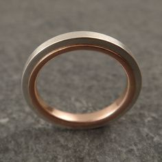 Wedding Band Love Squared Ring by DownToTheWireDesigns on Etsy