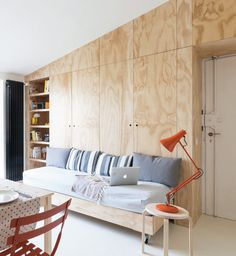 Decorative Pine plywood for shopfitting and joinery work Plywood Interior, Plywood Walls, Pine Plywood, Plywood Furniture, Interior Walls, Interior Design, Living Place, Compact Living, Arquitetura