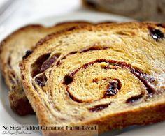 No Sugar Added Cinnamon Raisin Bread