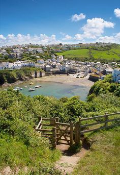 Gate To Port Isaac, Cornwall, England.