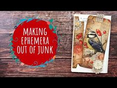 Making Ephemera out of Junk - Junk Journal With Me #171 - YouTube Handmade Journals, Handmade Books, Art Journal Tutorial, Collage, Junk Art, Personalized Gift Tags, Folded Cards, Mini Books, Tag Art