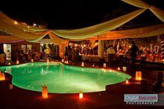 Decoracion de piscina boda noche!!