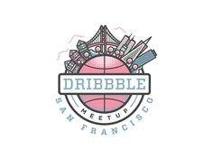 Dribbble San Francisco Meetup designed by Ryan Putnam for Dropbox Design. Connect with them on Dribbble; Logo Branding, Branding Design, Logo Design, Bakery Design, Logo Google, Graphic Design Typography, Cool Logo, Custom Logos, Logo Inspiration