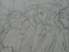 CHASSERIAU Théodore,1843 - Ste Marie l'Egyptienne, Etude pour l'Eglise St-Merri - drawing - Détail 22