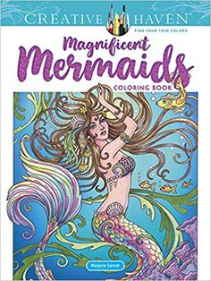 %Read Online Creative Haven Magnificent Mermaids Coloring Book By Marjorie Sarnat books Creative Haven Coloring Books, Coloring Pages For Kids, Adult Coloring, Colouring, Mermaid Coloring Book, Tattoo Coloring Book, Christmas Party Activities, Sea Flowers, Printable Christmas Coloring Pages