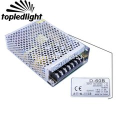 CH1 5V + CH2 24V Dual Output Aluminum Switching Power Supply D-60B Portable Lighting Accessories For Led Strip Light Home USE