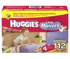 Huggies Little Movers Diapers, Size 4, 112-Count - http://www.intomars.com/huggies-little-movers-size-4-diapers.html